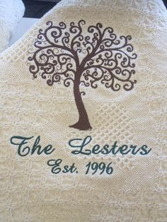 Embroidered Family Name Keepsake Afghan. Personalized Family GiftsCustomized  ... 54575611d
