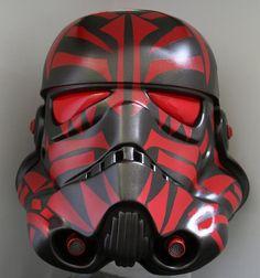 Sith style stormtrooper helmet