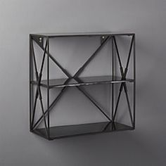 Smith Small Black Wall Shelf
