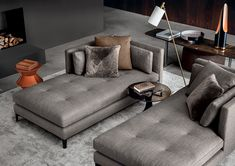 Part of the popular Andersen seating system, the Minotti Andersen Paolina Chaise-Longue's clean lines and considered design makes it perfect for curating exquisite interior compositions with multiple elements. Available from Minotti London.