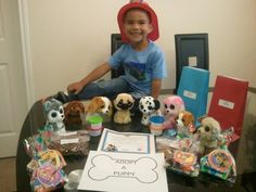 Paw patrol party. Every kid got to adopt a pet n got an adoption certificate. He had a blast!
