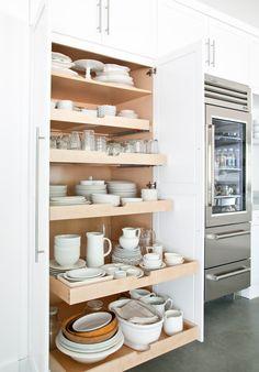 New Kitchen Pantry Storage Ideas Refrigerators 38 Ideas Kitchen Pantry Design, Kitchen Cabinet Organization, Pantry Storage, Kitchen Drawers, Diy Kitchen, Kitchen Storage, Kitchen Decor, Kitchen Cabinets, Dish Storage