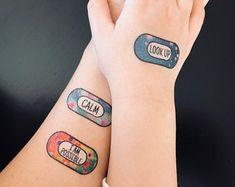 Self care motivational bandage tattoos temporary band aids motivation bandaids tattoos motivational tattoos bandaids