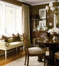Gorgeous formal dining room...love the color.