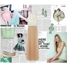 Pastel colors, created by camim on Polyvore featuring the Stella & Dot - Capri Chandelier Earrings in Turquoise