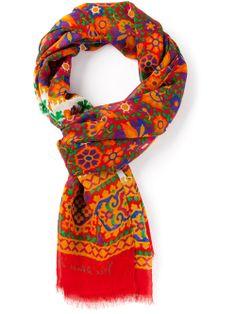 Yves Saint Laurent Vintage Floral Print Scarf - Dressing Factory - Farfetch.com