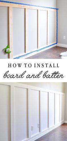Simple Home Decor How to install board and batten the easy way! Full tutorial for this DIY with a huge impact! Home Decor How to install board and batten the easy way! Full tutorial for this DIY with a huge impact! Architecture Renovation, Board And Batten, Home Hacks, Home Improvement Projects, Home Improvements, Diy Home Projects Easy, Easy Home Upgrades, Diy Home Decor Projects, Diy Home Crafts
