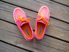 sperrys!.. Pink and orange are a great color mix!#$!!