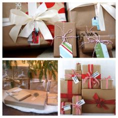 Brown paper packages tied up with string - it's creative gift wrapping! This Christmas give this latest trend a try with supplies available at Mirab's Home Store!