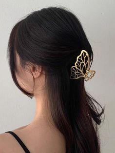 Hollow Butterfly Hair Clips - Complex Gold / Standard