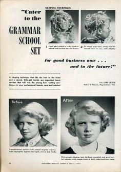 children's hairstyle, 1950's