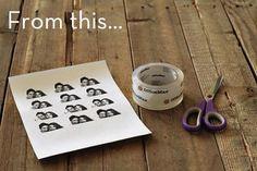 Packing Tape Image Transfer Art