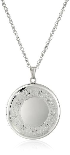 Sterling Silver Extra-Large Engraved Round Locket, 22' * Check out the image by visiting the link.