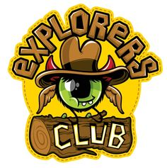 New Explorers Club Sticker - Sign up to become a member of the official Horndribbles Explorers Club @ www.horndribbles.com