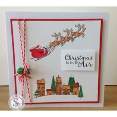 Nordic Christmas A6 Rubber Stamp - Santa's Delivery