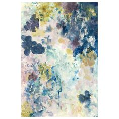 The Blue Cloud canvas wall art adorns bedrooms and living spaces with subtle femininity. Watercolor-inspired flowers dance upon this decor, appointing elegant interiors with a modern take on impressionism. The blue, purple, pink, and chartreuse palette furthers the airy effect. 24in W x 36in H. Giclee on canvas. Knife gel finish. Unframed. Made in the USA.