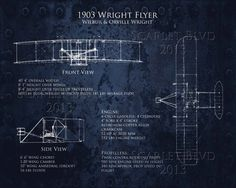 1903 Wright Flyer Blueprints  16 x 20 #art print by ScarletBlvd, $100.00 #etsy #homedecor #design #airplane