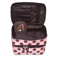 Damen Punkt Kasten Makeup Kosmetik Tasche Handtasche Werkzeug Box Kultur Rosa: Amazon.de: Schuhe & Handtaschen