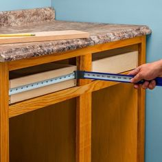 Zip Measure Inside Measuring Tools-Measure the inside dimensions of cabinets without having to bend your tape measure into the corner or estimate! #woodworkingtools