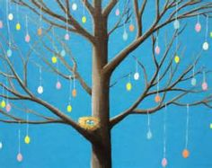Easter egg tree painting, CARDS als o available, free shipping ...