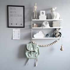 Organisera & kasta - The Way We Play Baby Bedroom, Baby Boy Rooms, Kids Bedroom, String Regal, Scandinavian Kids Rooms, Shared Rooms, Kids Room Design, Nursery Inspiration, Fashion Room