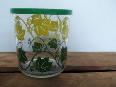 Vintage Hazel Atlas Sour Cream Glass with Lid by JunkyardElves, $8.00