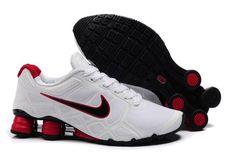 Nike Shox Turbo+ 12 Männerschuhe Weiß Schwarz Rot