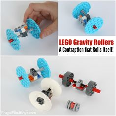 LEGO Gravity Rollers:  A Contraption that Rolls Itself!