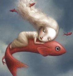 amor por los peces (by Nicoletta Ceccoli)