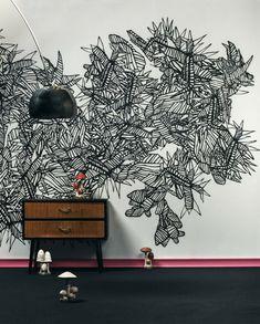 Wandgestaltung Mit Farbe Wand Streichen Ideen Muster | Wall Design ... Cooles Design Streichen