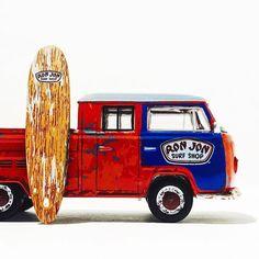 Ron Jon VW T2 Double Cab Pickup #vw #vdub #volkswagen #greenlight #ronjonsurfshop #ronjon #vwtype2 #toycrew #summer #toypics #surfsup