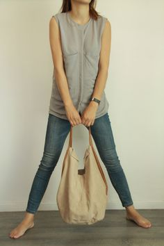 Charley Bag Soft leather bag  Beige leather tote by LadyBirdesign, $275.00