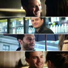 """In this film we get to see a different side of Christian. We see him smile a little bit more."" --Jamie Dornan"