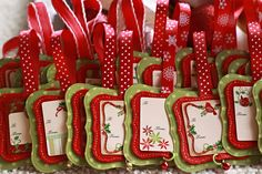 Christmas tags - cut these out with my cricut