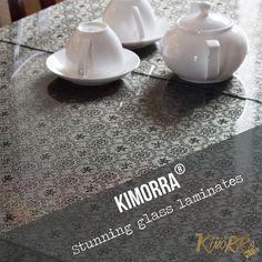 Kimorra fabric veneers look stunning laminated with glass - image ft #6032 Black Gold  More info >>www.kimorra.com<< #laminates #design #Cheshire #fabric #fabricveneers #veneers #glass #glasslaminates #black #gold #pattern #design #Kimorra #Cheshire #Congleton