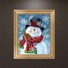 45*35cm Christmas House Pattern Needlework Diamond Painting Embroidery MI