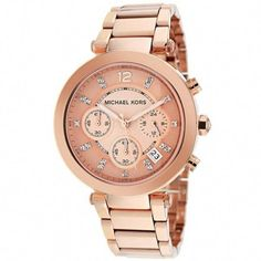60d6dd7c00efe Look at this Rose Gold   Swarovski Crystal Parker Chronograph Watch by Michael  Kors