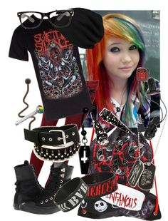 """suicide silence :p"" by hannahunter1997 ❤ liked on Polyvore"