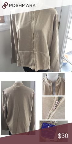 NWT FRESH PRODUCE Mock Neck Zip Up New With Tags! Relaxed Fit, Lightweight, Detailed Collar as well as on the Two Front Pockets 💕 Women's Size XL can fit up to 1X Fresh Produce Tops Sweatshirts & Hoodies