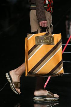 Fendi Men& Spring/Summer 2019 Collection designed by Creative Director Silv. Fendi Men& Spring/Summer 2019 Collection designed by Creative Director Silvia Venturini Fendi. Tote Bags, My Bags, Men's Totes, Ethno Style, Look Street Style, Womens Fashion Casual Summer, Luxury Bags, Purses And Handbags, Fashion Bags