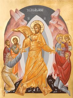 Resurrection of Christ by Julia Bridget Hayes Religious Icons, Religious Art, Good Shepard, Jesus Christ Painting, Images Of Christ, Paint Icon, Christ Is Risen, Byzantine Icons, Jesus Is Lord