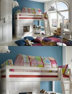 halbhohes Bett Abenteuer | Dieses Bett ist genau die richtige Wahl, wenn du einen kleinen Gipfelstürmer Zuhause hast. #Kinderbett #Abenteuer #MoebelLETZ Bunk Beds, Kids Room, Rooms, Children, Furniture, Home Decor, Infant Bed, Drawers, Home