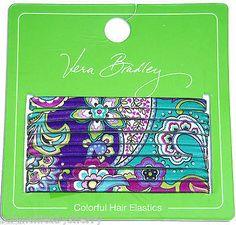 17.95$  Buy here - http://vibtc.justgood.pw/vig/item.php?t=u5talab32174 - Vera Bradley Hair Elastics 8 Heather Ponytail Holders Scrunchie 14234-144 New
