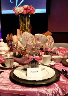 Pink & Silver tea table