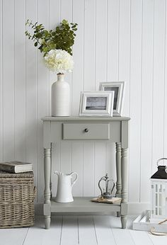 The White Lighthouse hallway furniture. Browse our range of small hall furniture, hallway console tables and hall storage to match every style of interiors, size and budget. Free UK delivery on most hall pieces Small Console Tables, Hallway Console, Narrow Console Table, Foyer, Living Room White, My Living Room, Living Room Tables, Hall Table Decor, Hall Tables