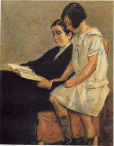 Portrait of artist's wife and granddaughter, Max Lieberman, 1926