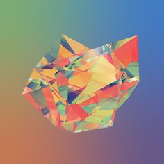 Render An Abstract Refraction Low Poly Look In Cinema 4D | Greyscalegorilla