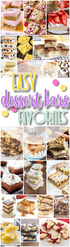 -- sw The Best Easy Desserts Bars Recipes - Favorite New Plus Classic Simple Bar Cookies and Quick Big Batch Party Treats Bars for a Crowd - Dreaming in DIY Dessert Party, Party Desserts, Holiday Desserts, Party Treats, Dessert Recipes, Desserts Diy, Chocolate Desserts, Dessert Simple, Easy Dessert Bars