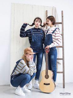 마리쉬♥패션 트렌드북! Friend Outfits, Girl Outfits, Cute Outfits, Fashion Outfits, Modest Fashion, Girl Fashion, Fashion Looks, Korean Street Fashion, Asian Fashion