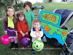 Homemade Scooby Doo Group Costume: My children usually do a group costume every year, and this year's theme was Scooby Doo! I made this Homemade Scooby Doo Group Costume  within about a